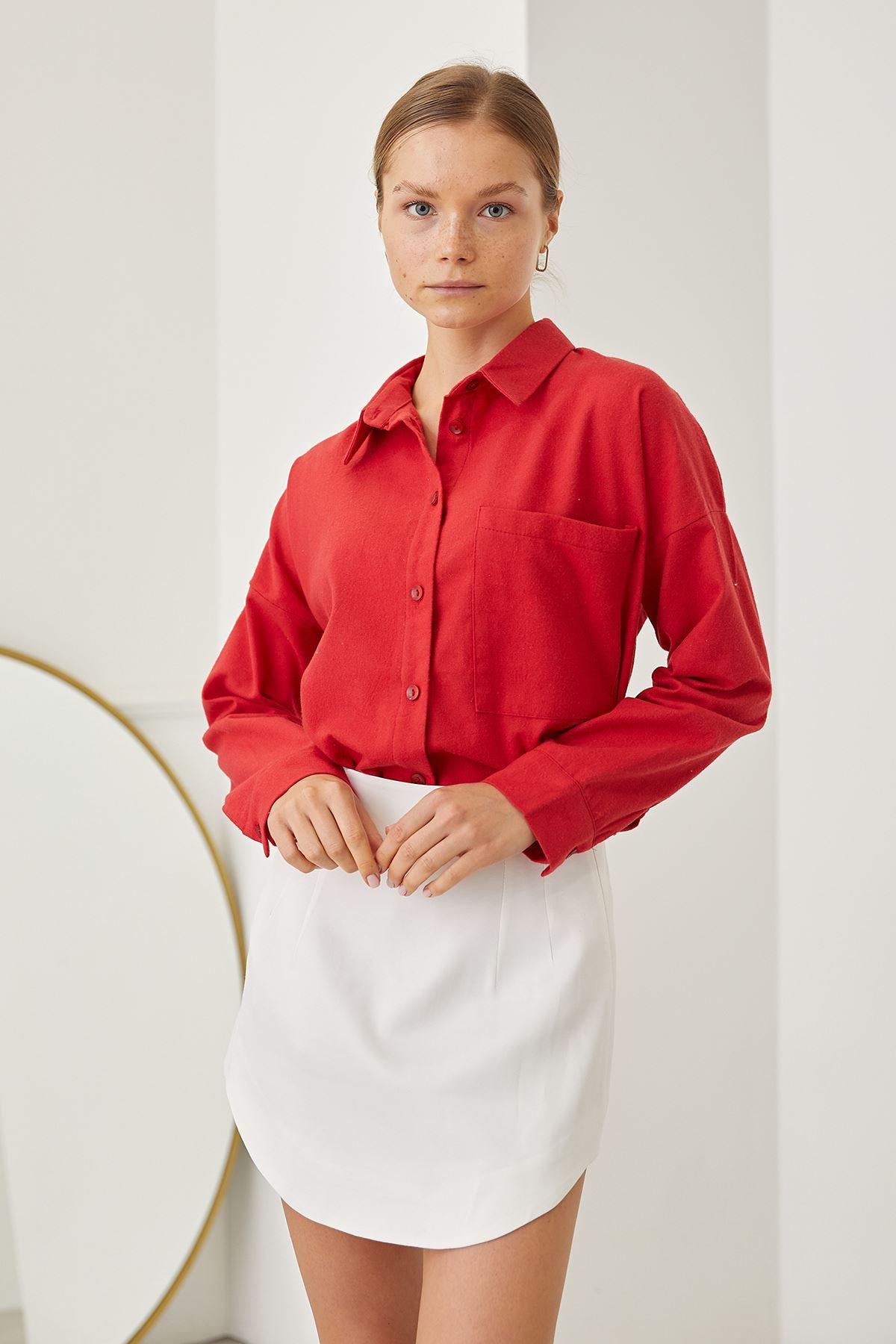 Klasik Gömlek-Kırmızı
